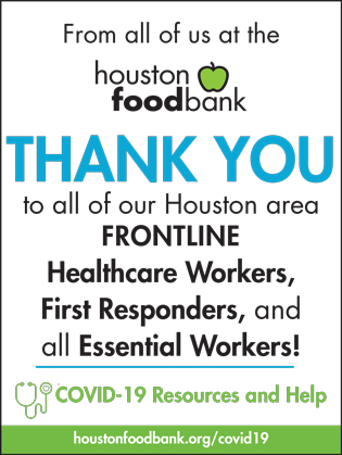 Online ad for Houston Food Bank
